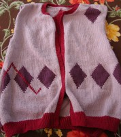 Diamonds cardigan, front
