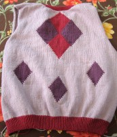 Diamonds cardigan, back
