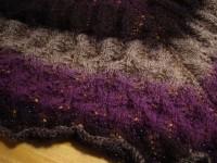 bitterroot shawl lace pre-blocking